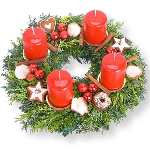 Adventskranz Santa