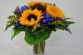 Blumenstrauß in der mitgelieferten Blumenvase