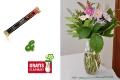 Handgebundener Blumenstrauß & Pralinenriegel & Gratis Vase