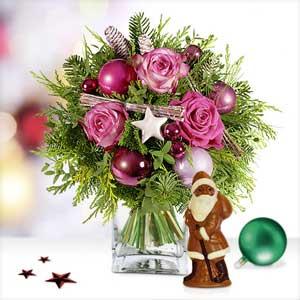 Lichterglanz mit Schokoladen-Weihnachtsmann
